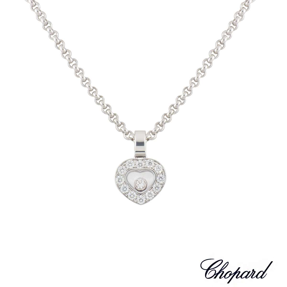 Chopard White Gold Happy Diamonds Pendant 0.33ct G/VS
